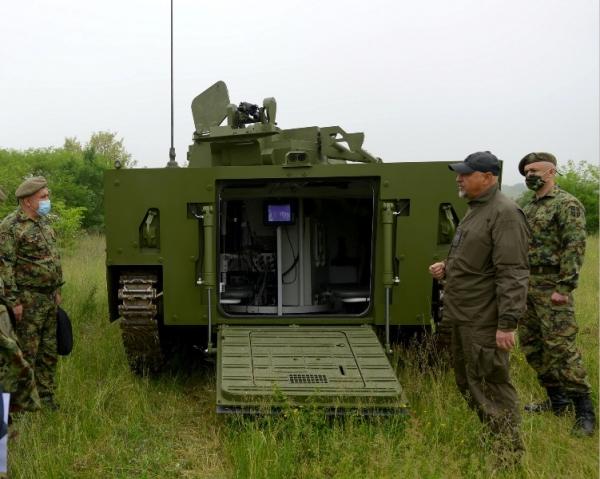 Демонстрација модернизованог борбеног возила пешадије у ВТИ
