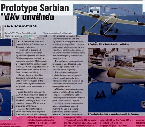 Други о нама - српска беспилотна летелица